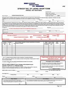 Short Form Bill Of Lading Short Form Fillable Bill Of Lading Fill Online