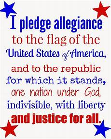 Another Word For Pledge Free 4th Of July Printable Of The Pledge Of Allegiance