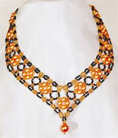 Different Bead Necklace Designs Free Pattern For Beautiful Beaded Necklace Margaret