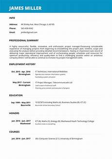 Auto Resume Maker Create A Perfect Resume In 5 Minutes Online Resume Builder