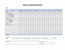 Bathroom Cleaning Checklist Template Restroom Cleaning Checklist Model Templates At