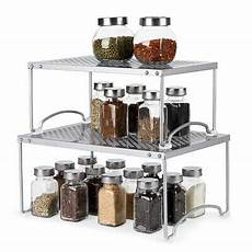 expandable stackable kitchen cabinet and counter shelf