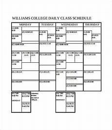 College Class Schedule Template College Class Schedule Template 6 Free Pdf Documents