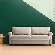 zinus traditional upholstered 77 5in sofa living room