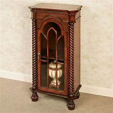 cathedral cherry wooden curio cabinet
