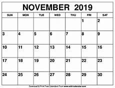 November Calendar Printable Blank November 2019 Calendar Printable On We Heart It