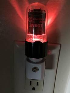 Amp Light Vacuum Tube Valve Night Light Steampunk W Glowing Heater