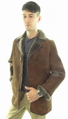 s traditional shearling sheepskin coat