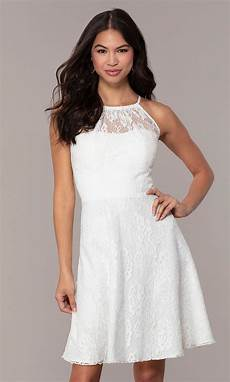 graduation white lace dress promgirl