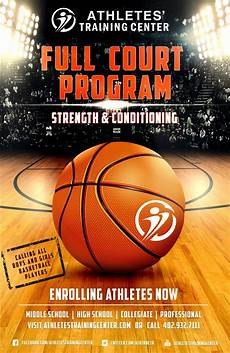 Basketball Tournament Program Template Full Court Program Athletes Training Center