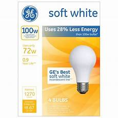100 Watt A19 Halogen Light Bulb 16 Pack Ge 100 Watt Energy Efficient Halogen Light Bulb 4 Pack