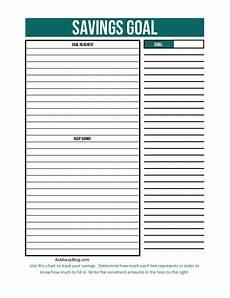 Savings Goal Chart Ask Away Blog Free Printable Financial Goal Charts
