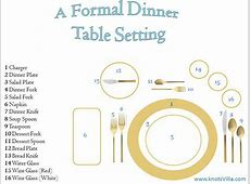 How to set your dinner table