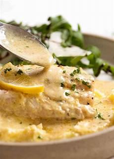 Light Lemon Sauce For Fish Baked Fish With Lemon Cream Sauce Recipetin Eats