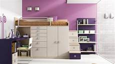 lade da da letto juvenil cama alta con armario cajones y despacho