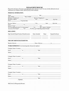 Resume Form Pdf Sba Resume Fill Out And Sign Printable Pdf Template