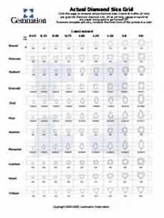 Diamond Clothing Size Chart Diamond Carat Weight