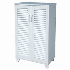 2 door paulownia shoe storage cabinet white auction