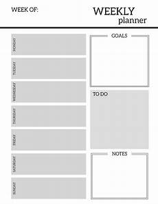 Weekly Planning Sheets Free Printable Weekly Planner Pages Paper Trail Design