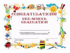 Preschool Graduation Certificates Preschool Graduation Certificate Template Free