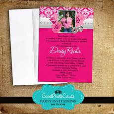 Pink Invitations Pink Roses Quinceanera Invitations Announcements