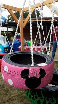 minnie mouse swing minnie mouse tire swing my crafts disney garden