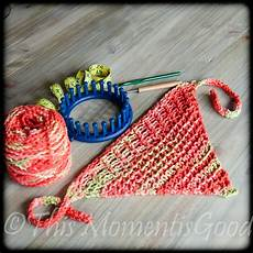 loom knit wrap bandanna loom knitting by this