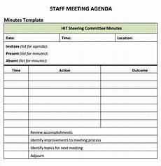staff meeting agenda templates staff meeting agenda 7 free download for pdf
