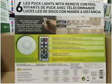 Capstone Led Puck Lights 6 Pack With Remote Control Capstone Led Puck Lights 6 Pack With Remote Control