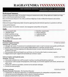 Resume For Customer Service Executive Customer Support Executive Resume Sample Livecareer