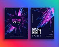 Free Electronic Invitation Electro Party Music Flyer Template Invitation Download
