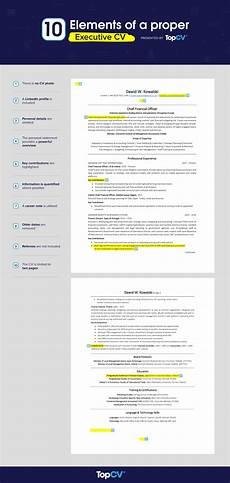 Executive Cv Example How To Write An Executive Cv In 2020 With Example Topcv