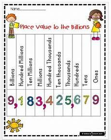 Math Placement Value Chart Free Here You Have Four Examples Of Place Value Charts