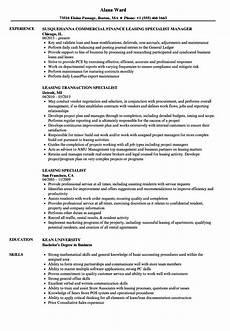 Leasing Specialist Resume Leasing Specialist Resume Samples Velvet Jobs
