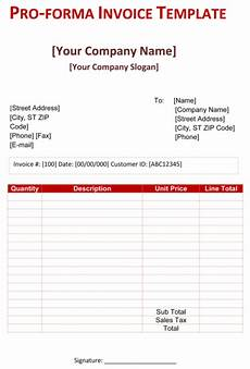 Proforma Invoice Sample Word How To Create A Pro Forma Invoice Quora