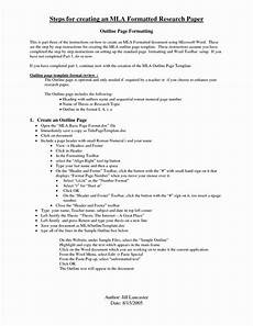 2020 Mla Format Mla Format Outline Template In 2020 Survey Template