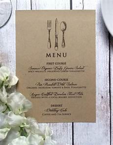 Wedding Menu Cards Wedding Menu Card Vintage Inspired Wedding By