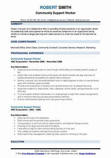 Community Service Worker Resume Community Support Worker Resume Samples Qwikresume