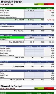 Weekly Budget Excel Template Free Download 176 Bi Weekly Personal Budget 176 Excel