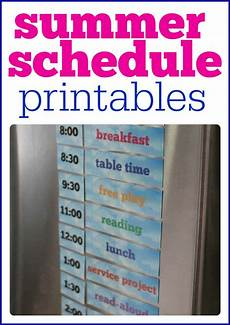 How To Make Schedules Printable Summer Schedule For Kids I Can Teach My Child