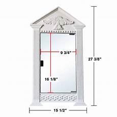 white urethane corner medicine cabinet mirror wall mount