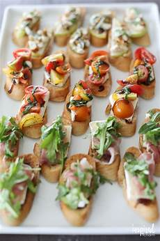 trio of farm to table inspired crostini