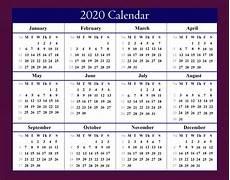 Free Printable Yearly Calendars 2020 Free Blank Printable Calendar 2020 Template In Pdf Excel