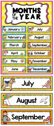 Printable Month Months Of The Year Headers In The Classroom Months In