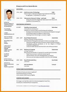 Cv Examples 15 Curriculum Vitae English Example Pdf Rigarda