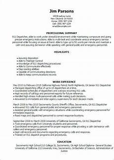 Resume For 911 Dispatcher 911 Dispatcher Resume Template Best Design Amp Tips