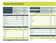 Budget Speadsheet Personal Monthly Budget Spreadsheet