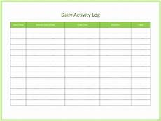 Track Daily Activities Free Activity Log Templates To Keep Track Your Activity Logs