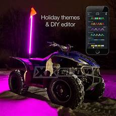 Led Whip Lights For Utv 2x Whip Xkchrome Advanced App Control Led Whip Light Kit