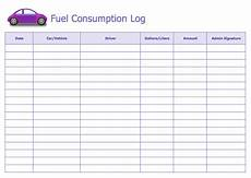 Gas Log Template Fuel Consumption Log Template Word Templates